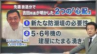 吉田所長が明かした2つの「心配」—(1)新たな防潮堤の必要性(2)5・6号機の建屋にたまる湧き水
