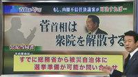 公安当局者によると、もし内閣不信任決議案が可決すれば、菅首相は衆議院を解散する。