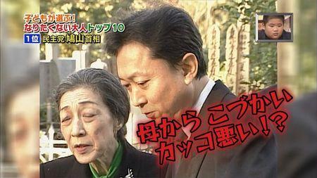 鳩山由紀夫=子どもが選ぶ!こんな大人になりたくない有名人第1位!3