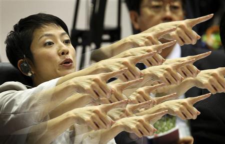 蓮舫指さし画像4:小泉進次郎に「指さしやめろ」と見事なブーメラン!